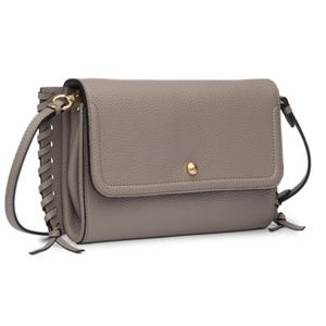 NEW Annabel Ingall Pebbled Leather Crossbody Bag